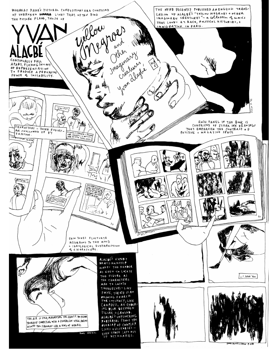The Weight of a Line: The Art and Comics of Yvan Alagbé, Jessica Campbell, and Edie Fake